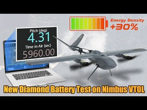 New Diamond Semi-solid State Lipo Battery Test on Nimbus VTOL Plane