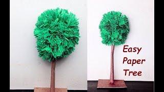 DIY - Easy Paper Tree (VERY EASY TREE)