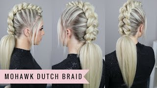 Mohawk Dutch Braid by SweetHearts Hair