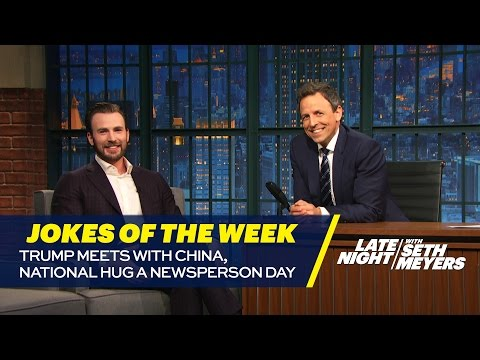 Seth's Favorite Jokes of the Week: Trump Meets with China, National Hug a Newsperson Day