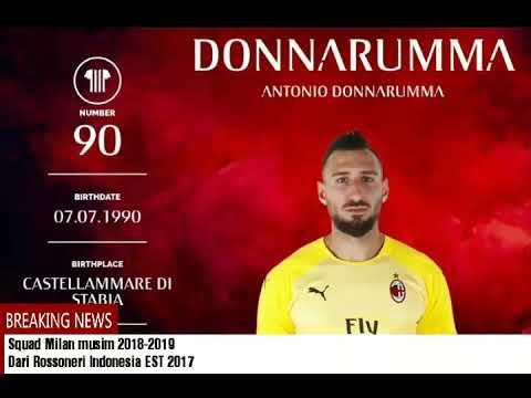 Squad Milan musim 2018-2019