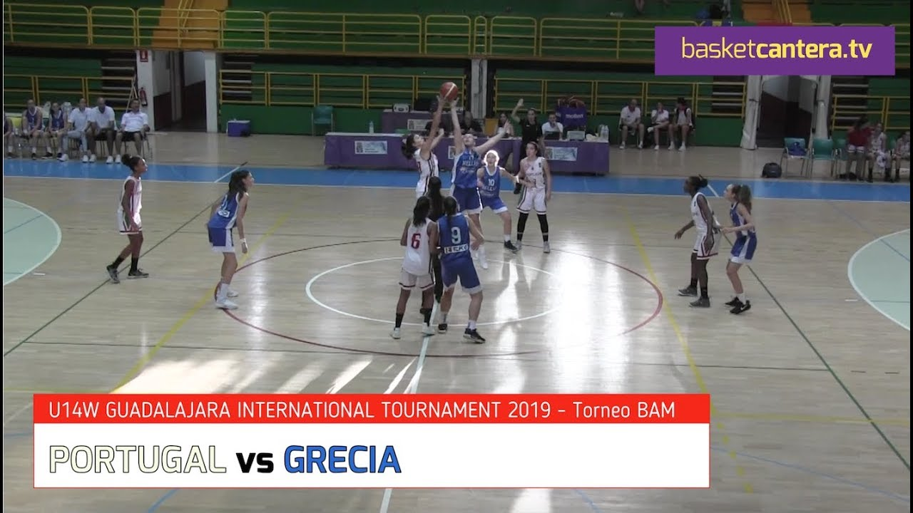 U14W PORTUGAL vs GRECIA.- International BAM Tournament. Guadalajara 2019 (BasketCantera.TV)