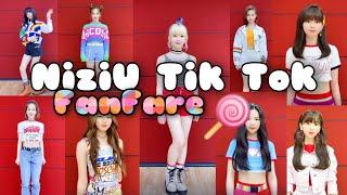 OT9 NiziU TikTok - FanFare (TWICE) Dance Cover | Ayaka Maya Riku Miihi Rima Rio Mako Mayuka Nina