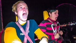 OVERNIGHT AT AMUSEMENT PARK! w/ Sam, Colby, Corey & Jake Webber