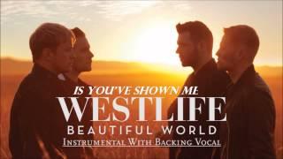 Westlife - Beautiful World (Instrumental With Backing Vocal & lyrics) [Official]