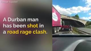 WATCH: The moment a Durban man gets shot during road rage clash