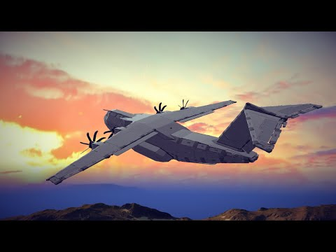Testing the Destruction Effect of my new Airbus A400M Atlas   Besiege