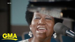 Unearthed footage from the brand new Aretha Franklin documentary 'Amazing Grace' l GMA