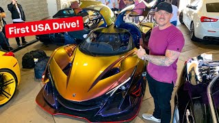 HOW TO EMBARRASS SUPERCAR OWNERS BRING TWO APOLLO IE HYPERCARS! *FIRST USA DRIVE*
