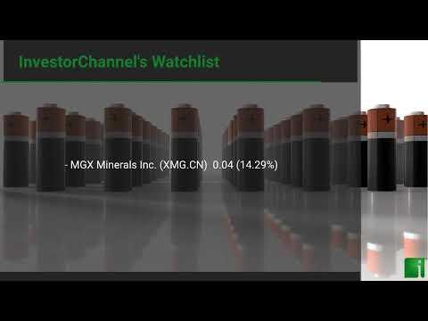 InvestorChannel's Lithium Watchlist Update for Wednesday, September, 22, 2021, 16:00 EST