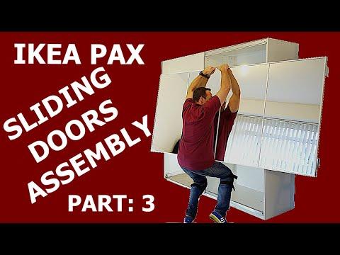 IKEA PAX WARDROBE sliding doors assembly PART: 3