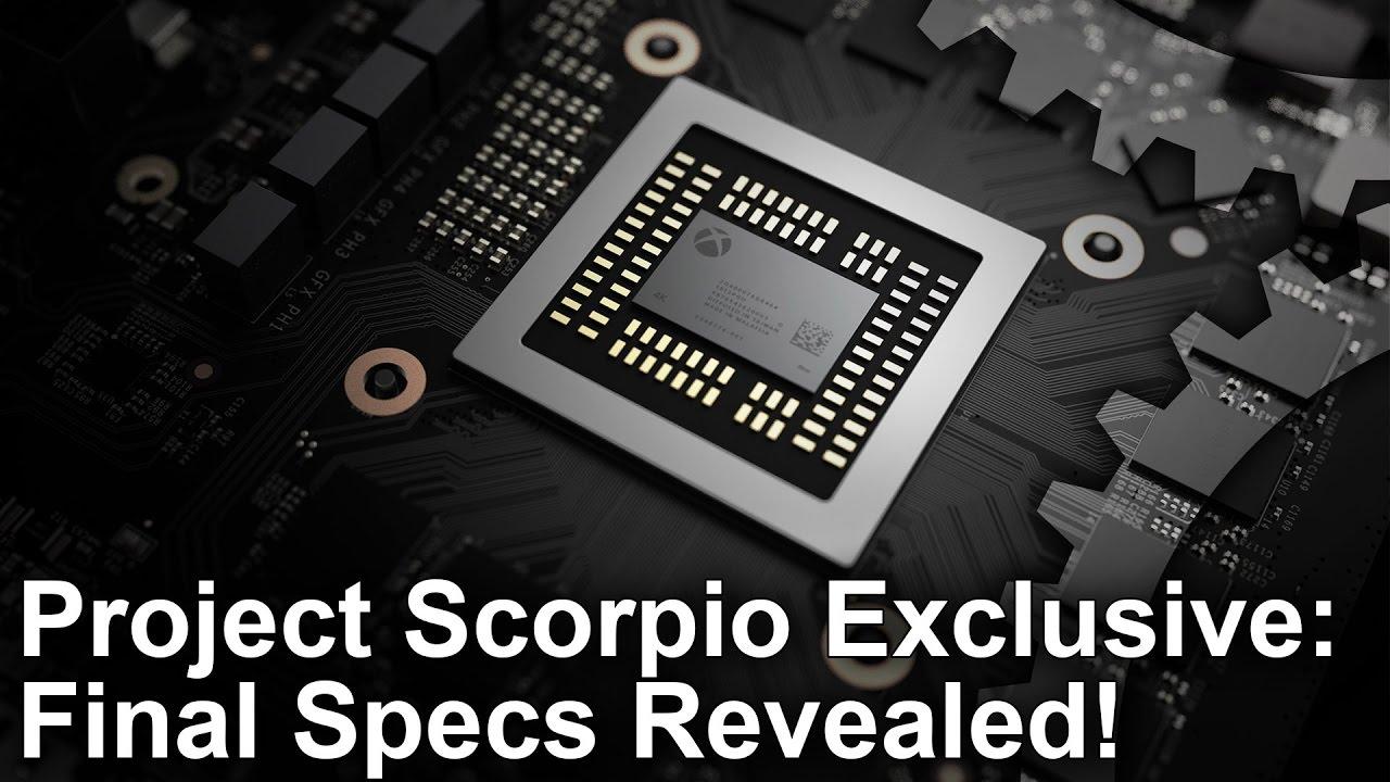 Project Scorpio: Rivelate le specifiche finali