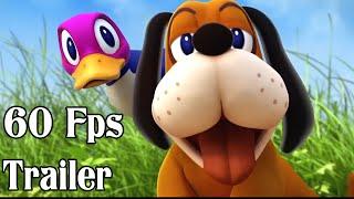 Super Smash Bros 4 Duck Hunt Dog 60fps Cutscenes Trailer | Wii U and 3DS 【1080p HD】