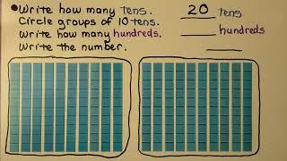 2nd Grade Math 2.1, Group Tens as Hundreds