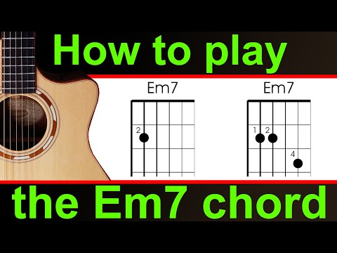 How to play Em7 on guitar.  the E minor 7 guitar chord
