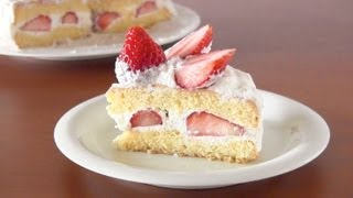 How to Make Japanese Strawberry Shortcake (Recipe) | OCHIKERON | Create Eat Happy :)
