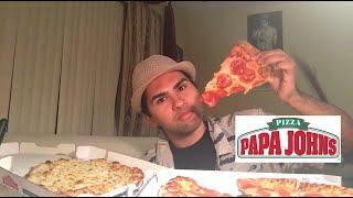 ME EATING PAPA JOHNS MUKBANG - Video Youtube