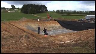Dairy Effluent Pond   Time Lapse Of A Firestone EPDM Geomembrane Installation