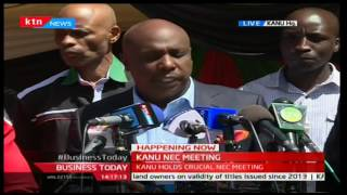 KANU briefs the press on state of the party after NEC meeting