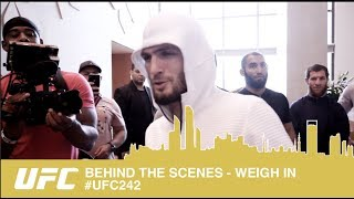 BEHIND THE SCENES FROM OFFICIAL WEIGH INS  UFC242 - ALL ACCESS