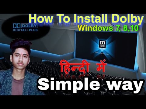 How to Install Dolby Digital Plus | Windows 10/8/7| [In Hindi