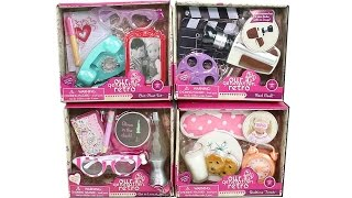 Our Generation Retro Small Accessory Packs Opening 18 Inch Doll Playset Unboxing Toy Review