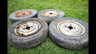 4 OLD CAR WHEELS (RIMS) ??? WHAT YOU CAN DO FROM OLD CAR WHEELS / DIY Stove From CAR RIMS