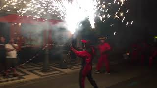 Correfoc: devils dancing on the streets of Villajoyosa