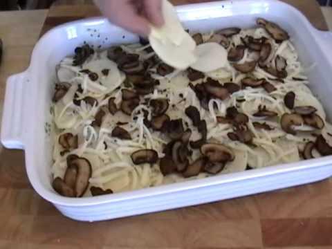 Truffled Mushroom and Potato Gratin