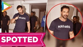 SPOTTED: John Abraham at Karan Johar's House