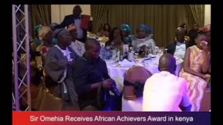 Omehia Receives African Achievers  Award