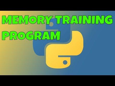 Python Memory Training Program - YouTube
