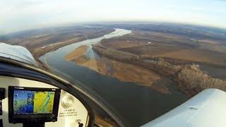 Zenith flight along the Missouri River