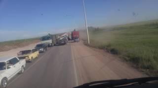 Авария трасса Караганда-Темиртау 19.06.2017