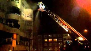 Zásah hasičů na Silvestra na Černém mostě