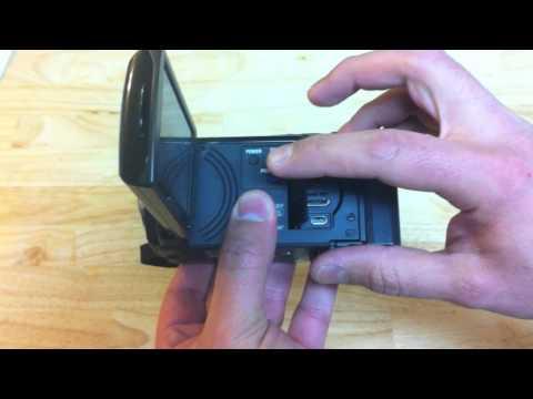 Camara de video Sony HDR-PJ10 Con proyector Digital HD Video - Desempaquetado