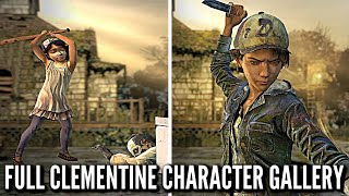 ALL CLEMENTINE Character Animations, Voice Lines, and Outfits - The Walking Dead: Definitive Edition
