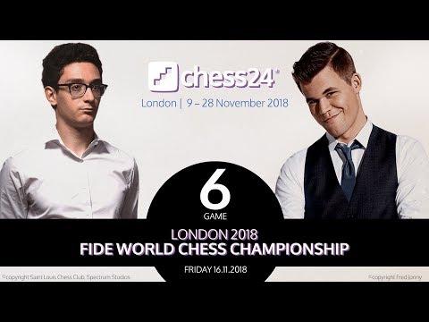 Carlsen-Caruana Game 6 - 2018 FIDE World Chess Championship