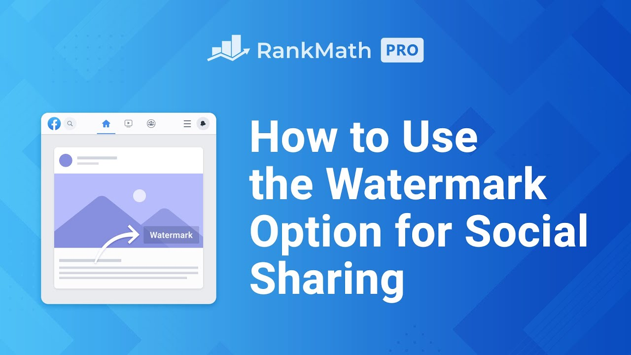 How to Use the Watermark Option for Social Sharing - Rank Math SEO