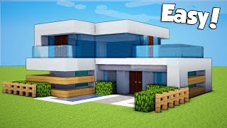 Minecraft How To Build A Small Easy Modern House Tutorial Minecraftvideos Tv