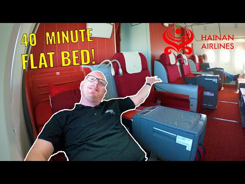 40 MINUTE FLAT BED! Hainan Airlines Boeing 787 Business Class