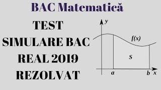 TEST SIMULARE BAC MATEMATICA REAL 2019 Rezolvarea Completa  EXAMEN.MD