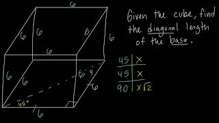 Special Right Triangles Example Problem