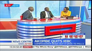 AKOMBE QUITS IEBC: Whether there will be elections on 26th of October