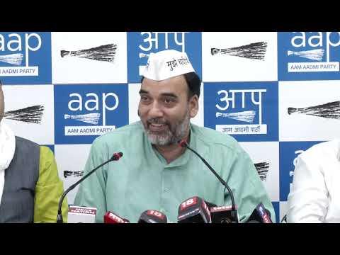 AAP Delhi Convenor Gopal Rai Briefs on Full Statehood and AAP Star Campaign List