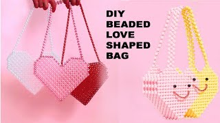 How To Make Beaded Love Bag/ Beaded Ornaments Bag/beaded Jewelry Bag/putir Love Bag