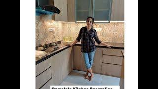 Small Kitchen Renovation / L Shape Kitchen Ideas  / Modular Kitchen Design