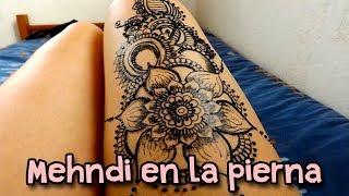 Henna Tattoo Leg Floral.