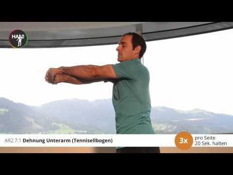 Übungen für das Hüftgelenk in Coxarthrose Ball