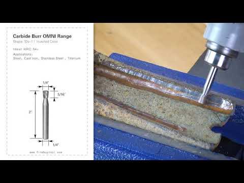 FindBuyTool Carbide Burr SN-1 Cone invertido Cone Omni Range Head D 1/4 x 5 / 16L, 1/4 haste, 2 polegadas de comprimento total